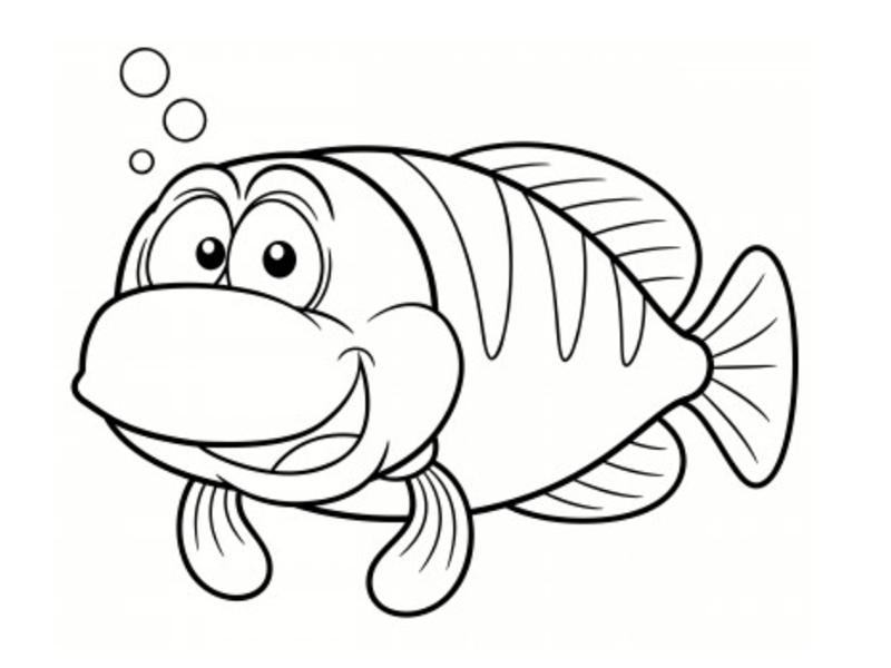 poissons coloriages