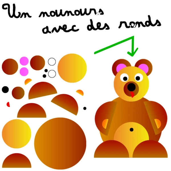 activit maternelle nounours avec des ronds. Black Bedroom Furniture Sets. Home Design Ideas