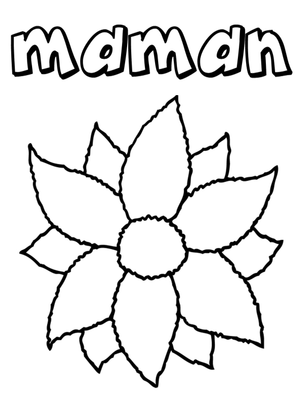 Coloriages f tes des m res - Image fleur dessin ...