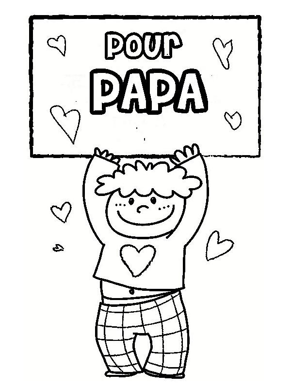 Coloriages papa - Dessin d anniversaire pour papa ...