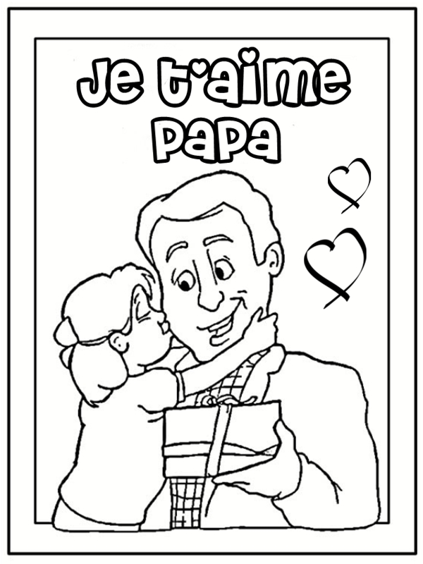 coloriages papa