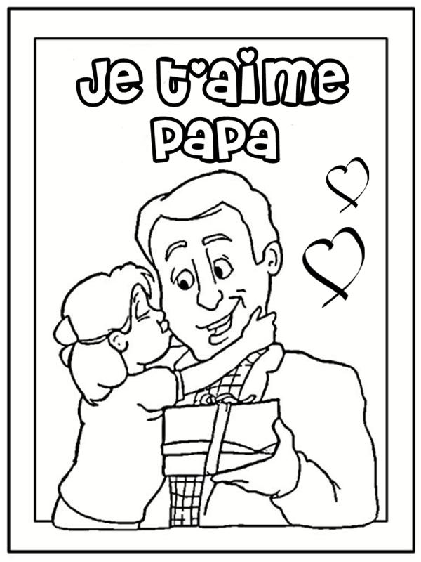 Coloriages papa - Dessin a imprimer de ...