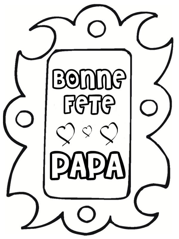 Coloriages Papa