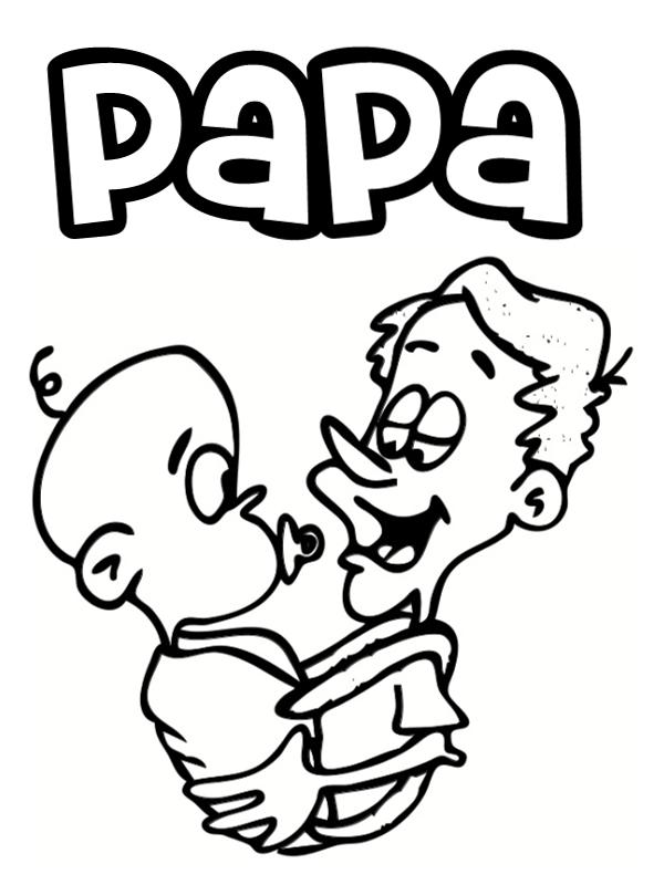 Coloriages papa - Image coloriage ...