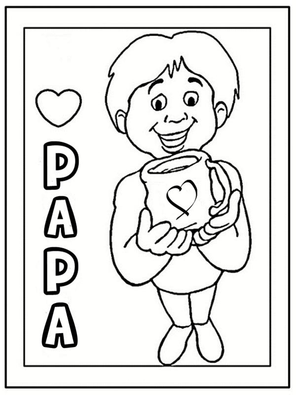 Coloriages papa - Coloriage 0 imprimer ...