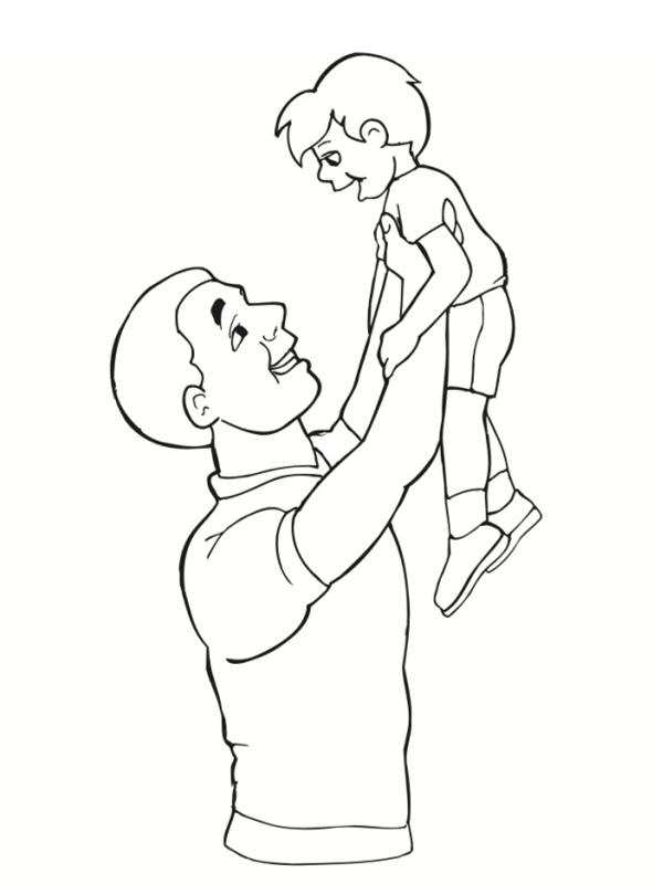 Coloriages papa - Imprimer dessin enfant ...