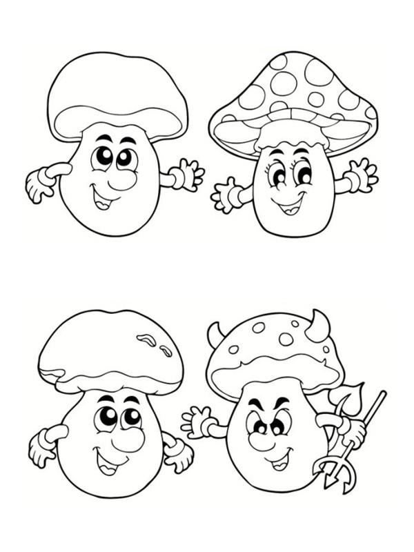Coloriages d 39 automne imprimer gratuitement - Dessin de champignons a imprimer ...
