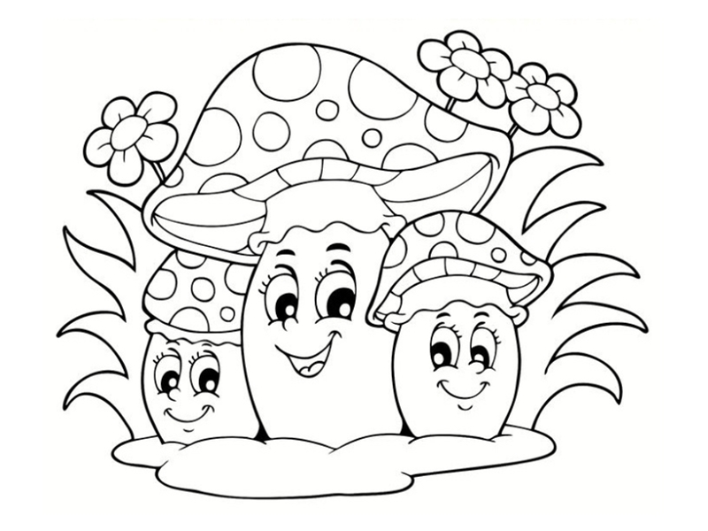 Coloriages d 39 automne imprimer gratuitement - Dessiner un champignon ...
