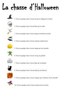 La chasse d 39 halloween jeu enfant - Idee menu halloween ...