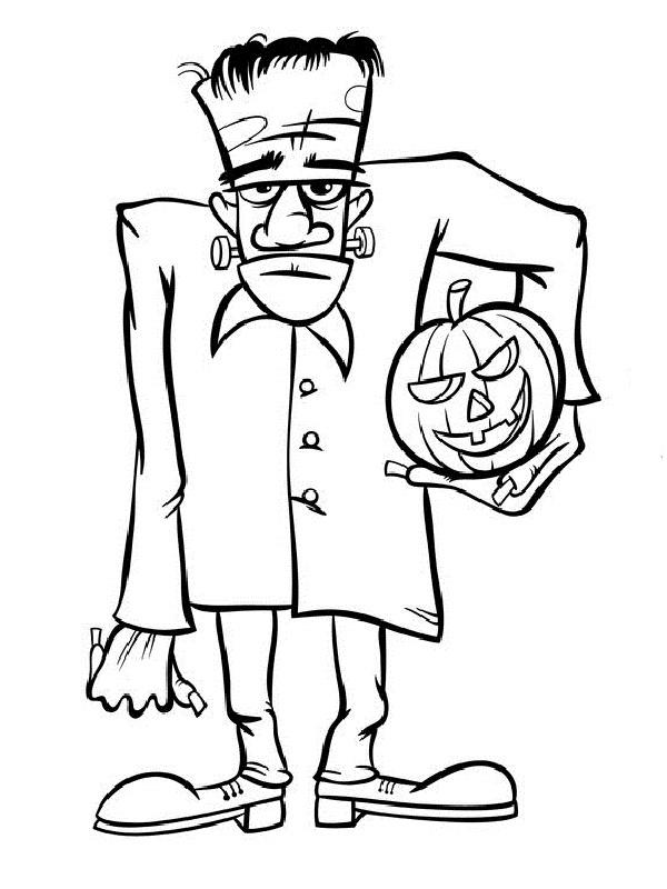 Monstres d 39 halloween les coloriages - Dessin a colorier halloween ...