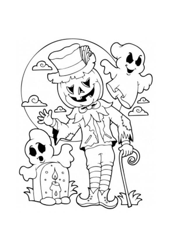 monstres halloween les coloriages