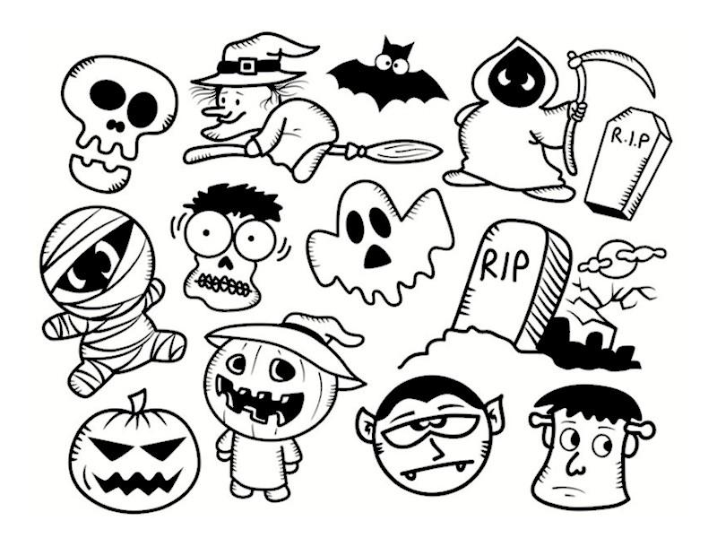 Monstres d 39 halloween les coloriages - Tete de citrouille pour halloween ...