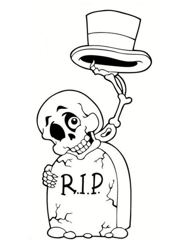 Squelette Dessin Halloween.Monstres D Halloween Les Coloriages