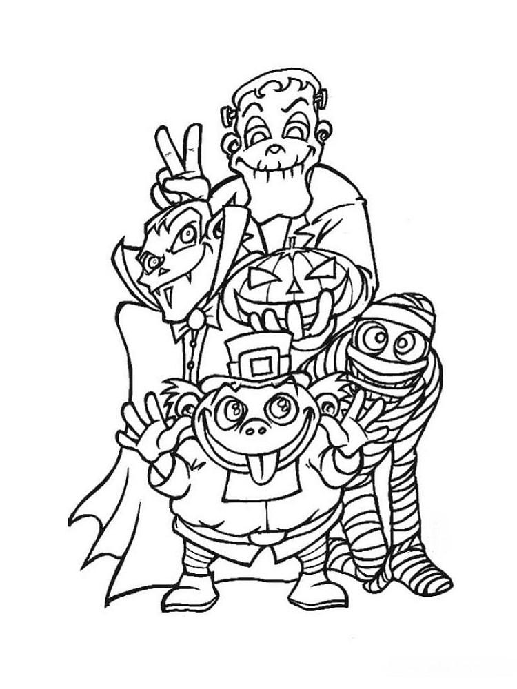Monstres d 39 halloween les coloriages - Monstres dessin ...