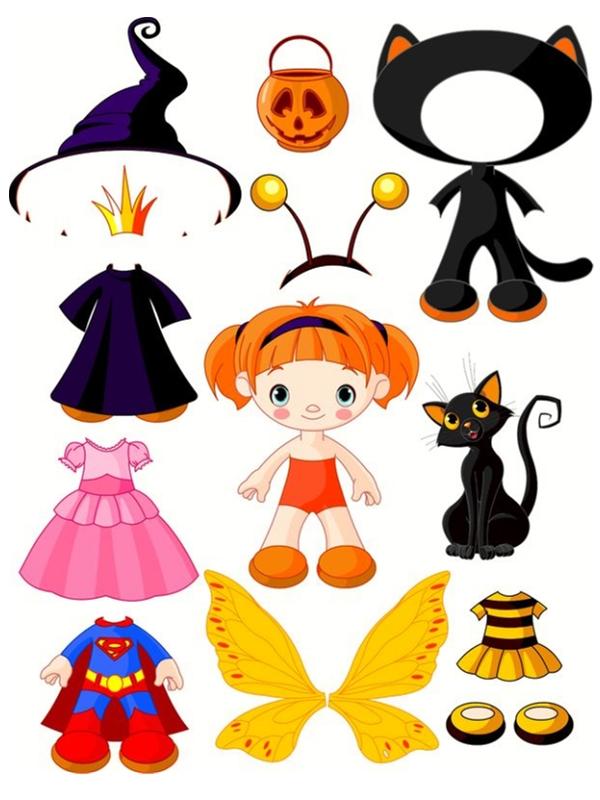 Poup Es Halloween Enfant Jeu Imprimer Pour Jouer