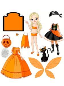 poupée de papier halloween