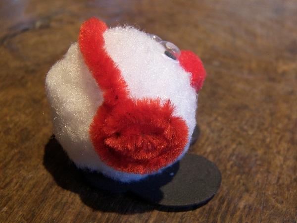 Mini bonhomme de neige pompon - Bonhomme de neige en pompon ...