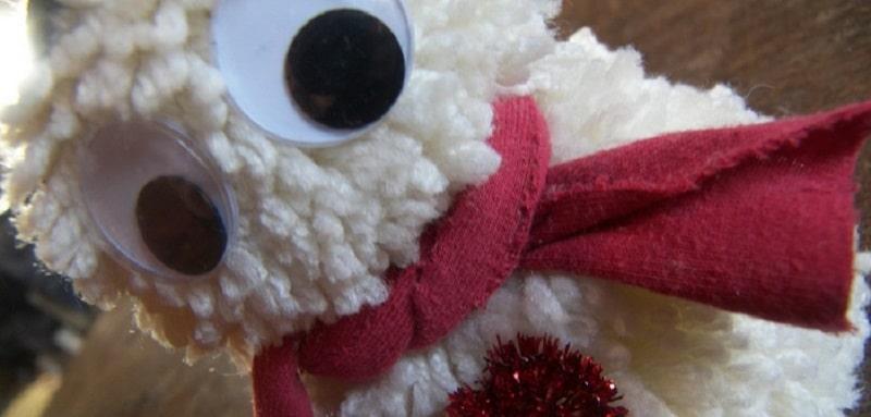 Pompon le bonhomme de neige - Bonhomme de neige en laine ...