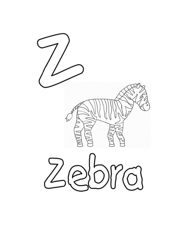 colorier une lettre anglaise
