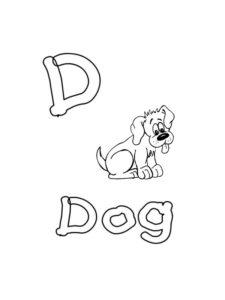 colorier lettres englaises