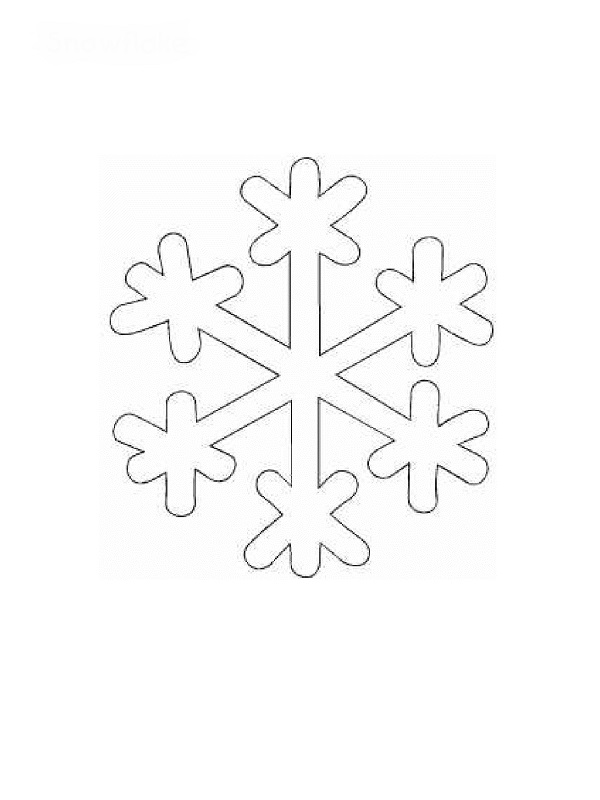 Coloriages plan te imprimer gratuitement - Dessiner un flocon de neige ...