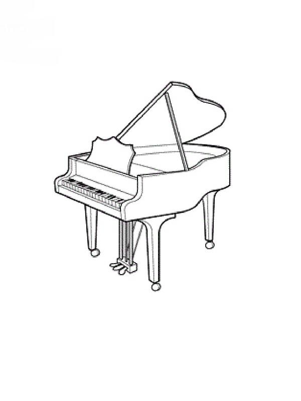 Exceptionnel Coloriages instruments de musique HO17