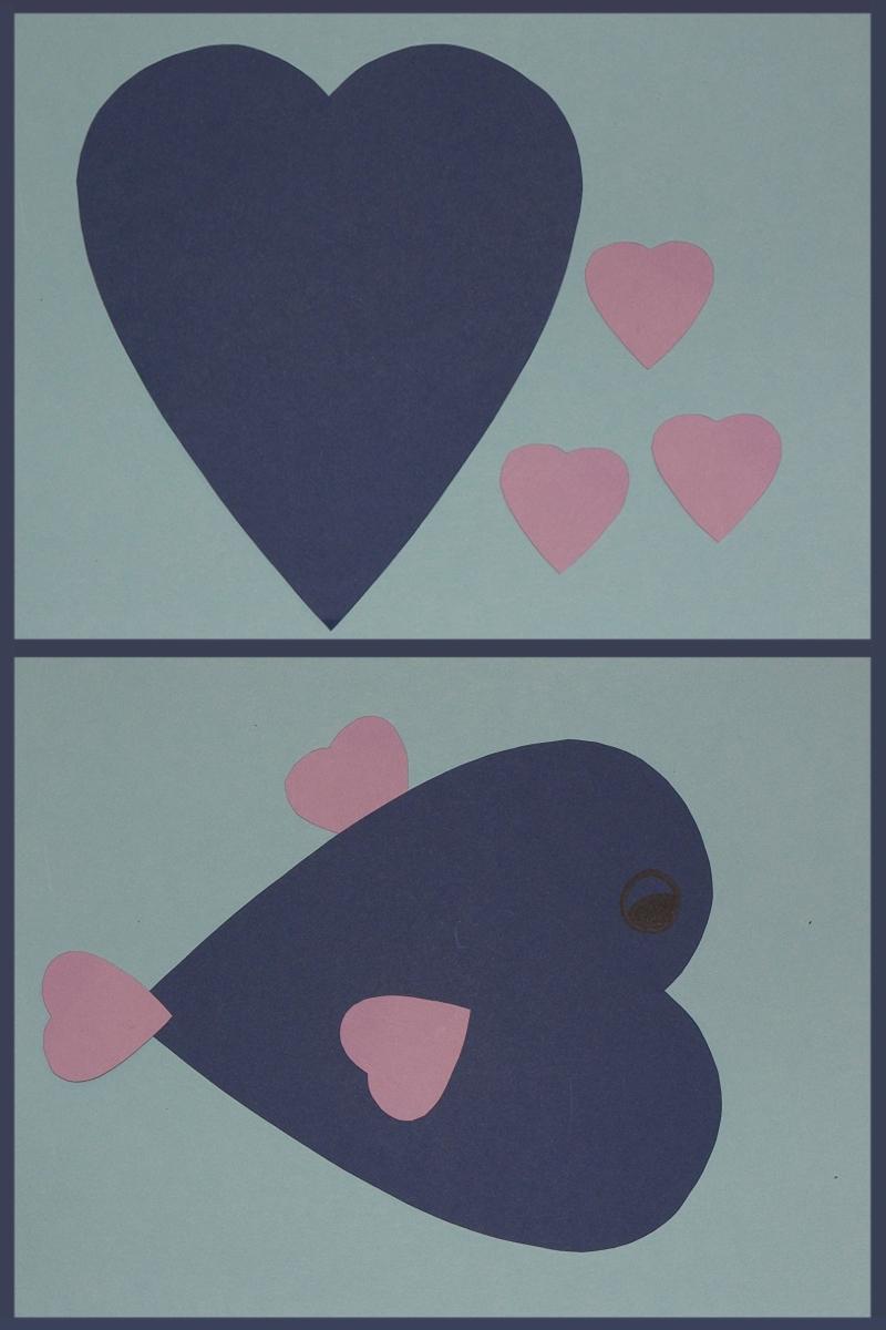 Animaux avec des c urs bricolage saint valentin - Comment fair un coeur ...
