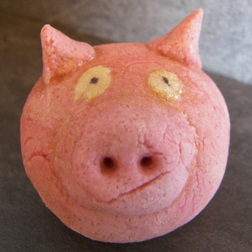 modelage pâte à sel cochon