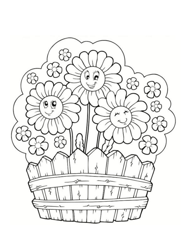 Coloriages de fleurs - Fleur en coloriage ...