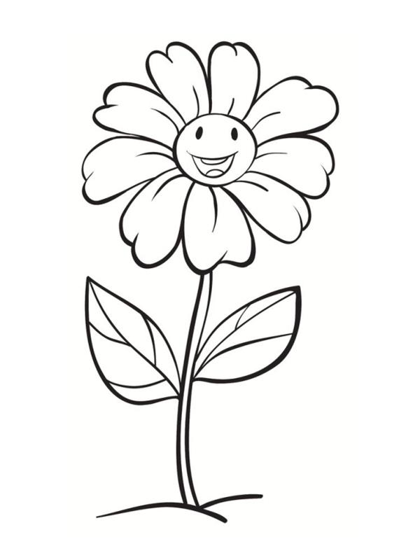 Coloriages de fleurs - Colorier une fleur ...
