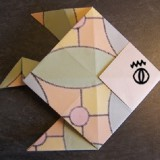 Un poisson origami facile pour épater les copains le 1er avril !