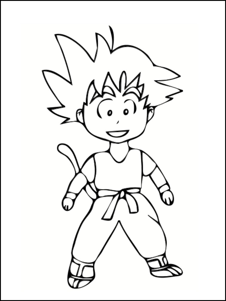 Coloriages manga imprimer gratuitement - Dessin dragon ball z facile ...