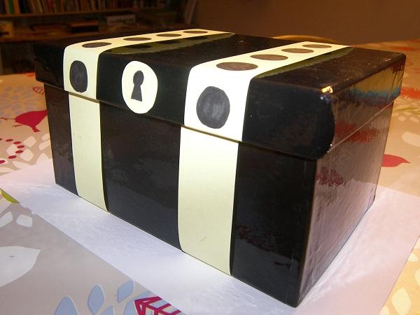 Fabriquer un coffre tr sor - Comment fabriquer un coffre en carton ...