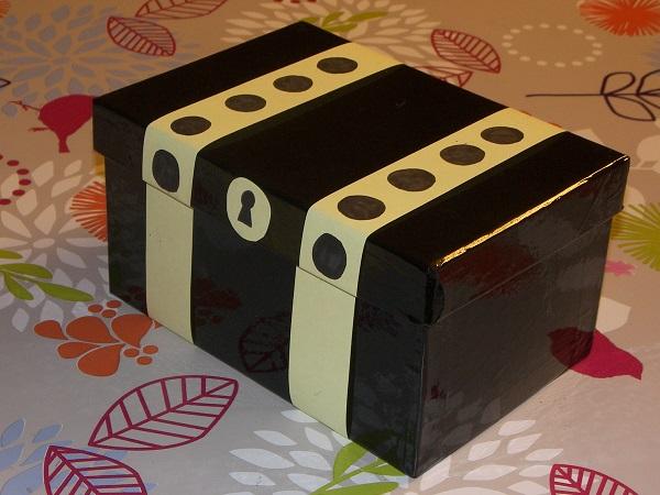 Fabriquer un coffre tr sor - Fabriquer une boite a bijoux avec une boite a chaussure ...