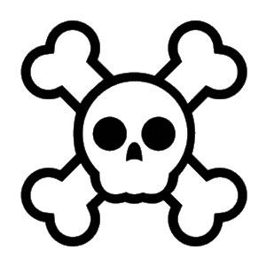 tête de mort trésor pirate