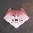 origami tete de chat