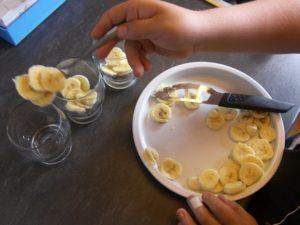 verrines banane et nutella