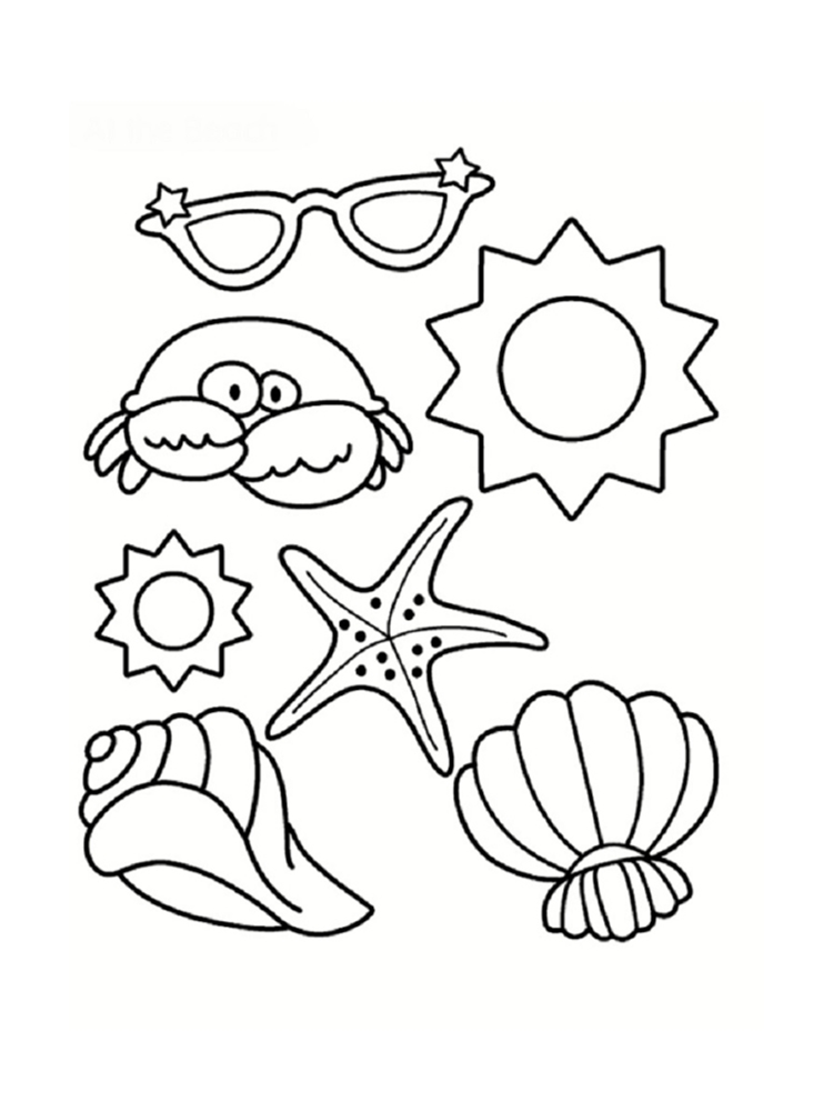 Coloriage mer des dessins imprimer for Summer pictures for kids to colour