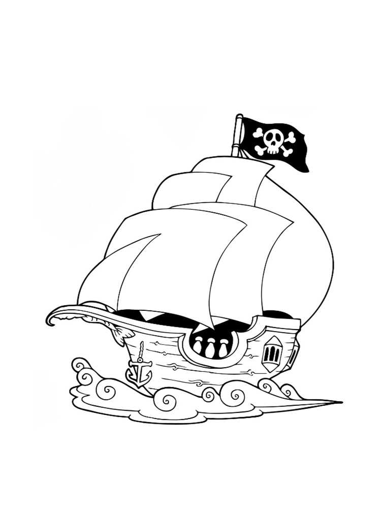 Dessin facile bateau pirate - Tete de pirate dessin ...