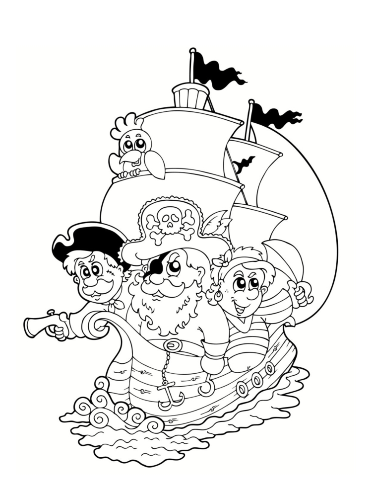 Coloriage pirate 25 dessins imprimer - Bateau pirate dessin ...