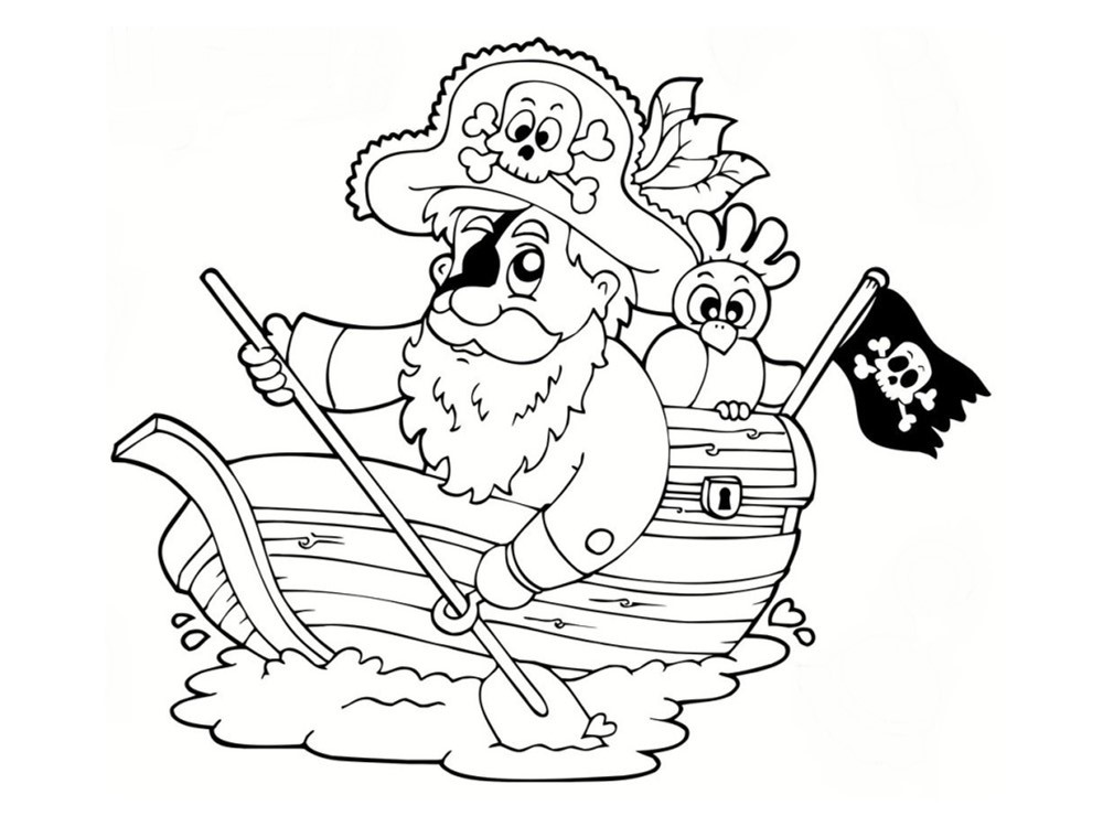 Coloriage pirate 25 dessins imprimer - Coloriage pirate des caraibes ...