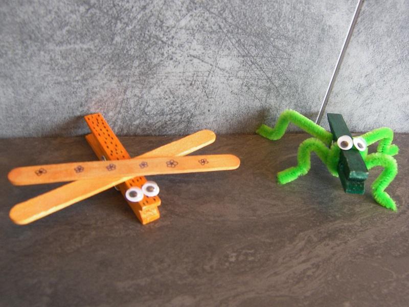 Activite manuelle avec pinces linge bois maison design - Activite manuelle facile 3 6 ans ...