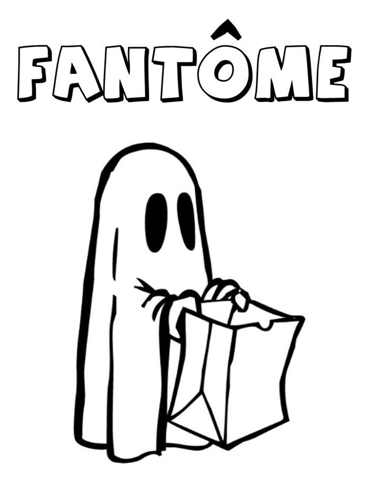 coloriage fantôme