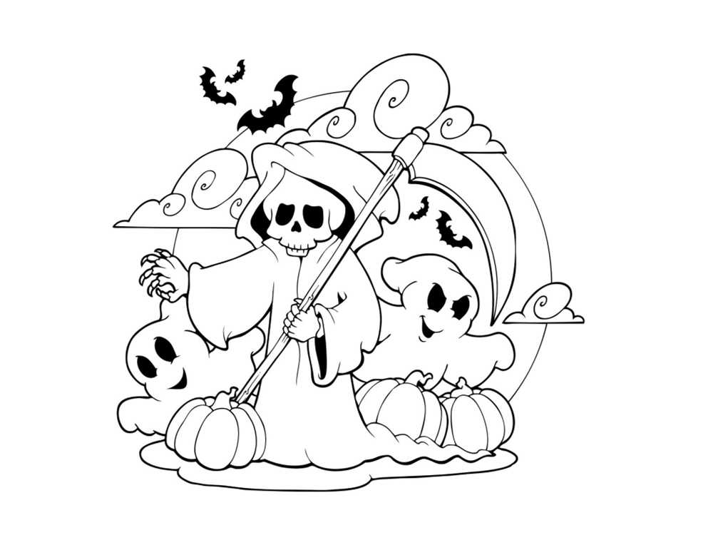 Coloriage fantôme : 21 dessins à imprimer