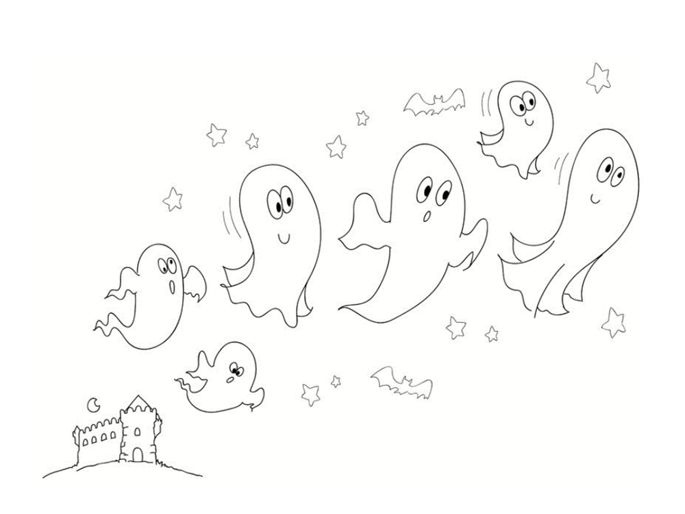 colorier un fantôme