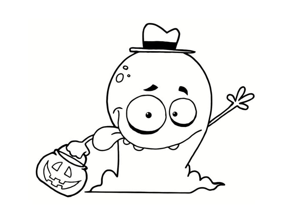Coloriage fant me 21 dessins imprimer - Coloriage fantome halloween ...