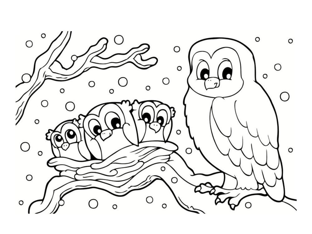 Coloriage hiver 24 dessins imprimer - Dessin a colorier paysage ...