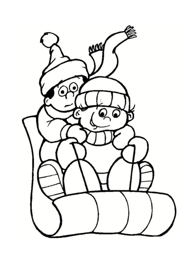 coloriage hiver 24 dessins a imprimer