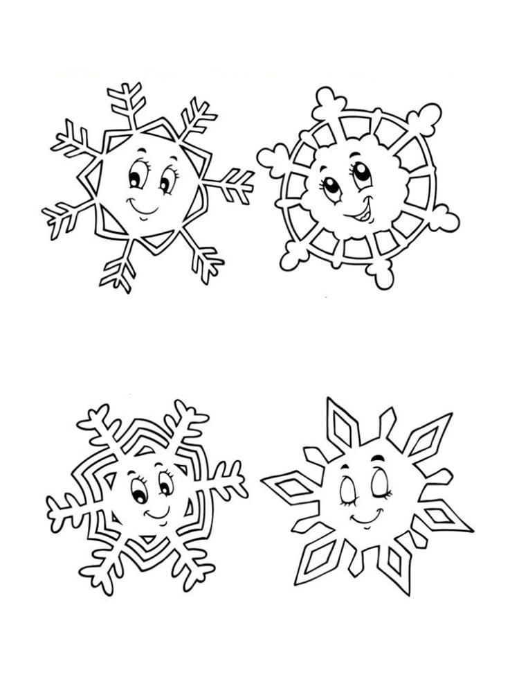 Coloriage hiver 24 dessins imprimer - Gabarit flocon de neige a decouper ...
