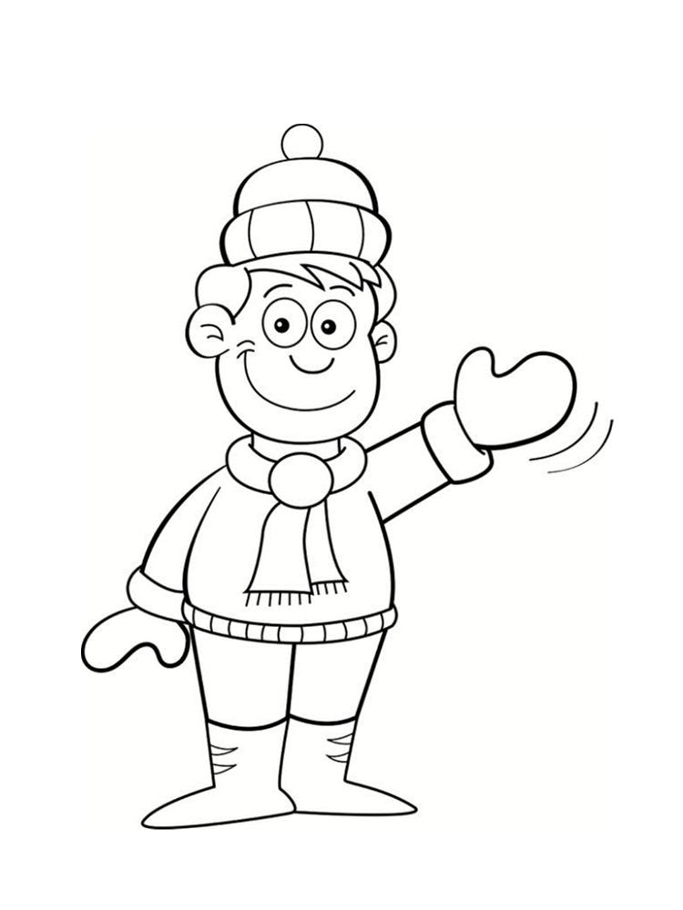 Coloriage hiver 24 dessins imprimer - Dessin petit garcon ...
